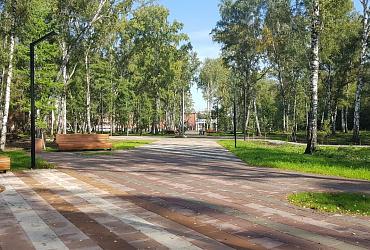 В Кемерове по инициативе жителей отремонтировали центральную аллею старейшего парка города «Березовая роща»
