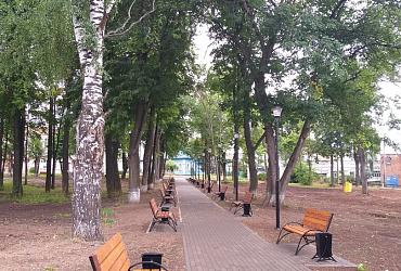 В Осе Пермского края благодаря нацпроекту преобразился парк Победы - ВИДЕО