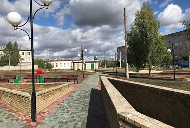 В Сергаче Нижегородской области появился новый сквер благодаря нацпроекту «Жилье и городская среда»