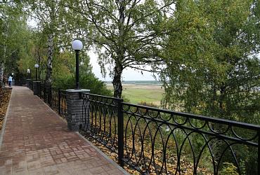 В Нижегородской области благоустроили набережную рабочего поселка Воскресенское