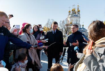Рабочая поездка главы Минстроя России Владимира Якушева в Свердловскую область