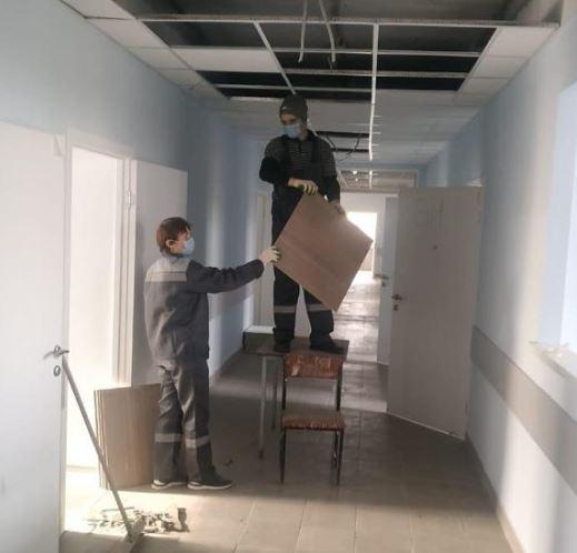 Начались работы по перепрофилированию здания стационара в Электростали