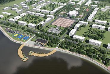 В Свердловской области к завершению подходит строительство «Набережной огней»