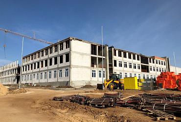 В Нижегородской области приступили к устройству кровли новой школы