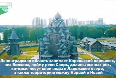 Регион на карте. Ленинградская область