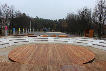 В Алексине Тульской области завершается благоустройство парка «Химик»