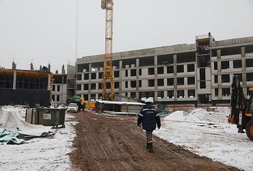 В Самаре подрядчик завершил возведение каркасного монолита школы в ЖК «Новинки Smart City»