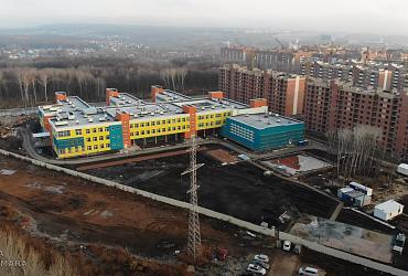 Строительство новой школы в Самаре сняли с высоты птичьего полета -  ВИДЕО
