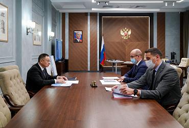 Фоторепортаж: Ирек Файзуллин провел рабочую встречу с главой Удмуртской Республики