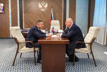 Ирек Файзуллин и генеральный директор Металлоинвеста Назим Эфендиев обсудили строительство крупных инфраструктурных проектов