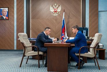 Министр строительства и ЖКХ РФ Ирек Файзуллин встретился с губернатором Пермского края Дмитрием Махониным