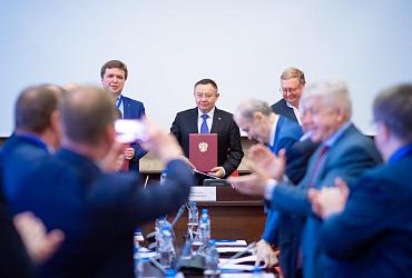 Министр строительства и ЖКХ РФ Ирек Файзуллин посетил НИУ МГСУ с рабочим визитом